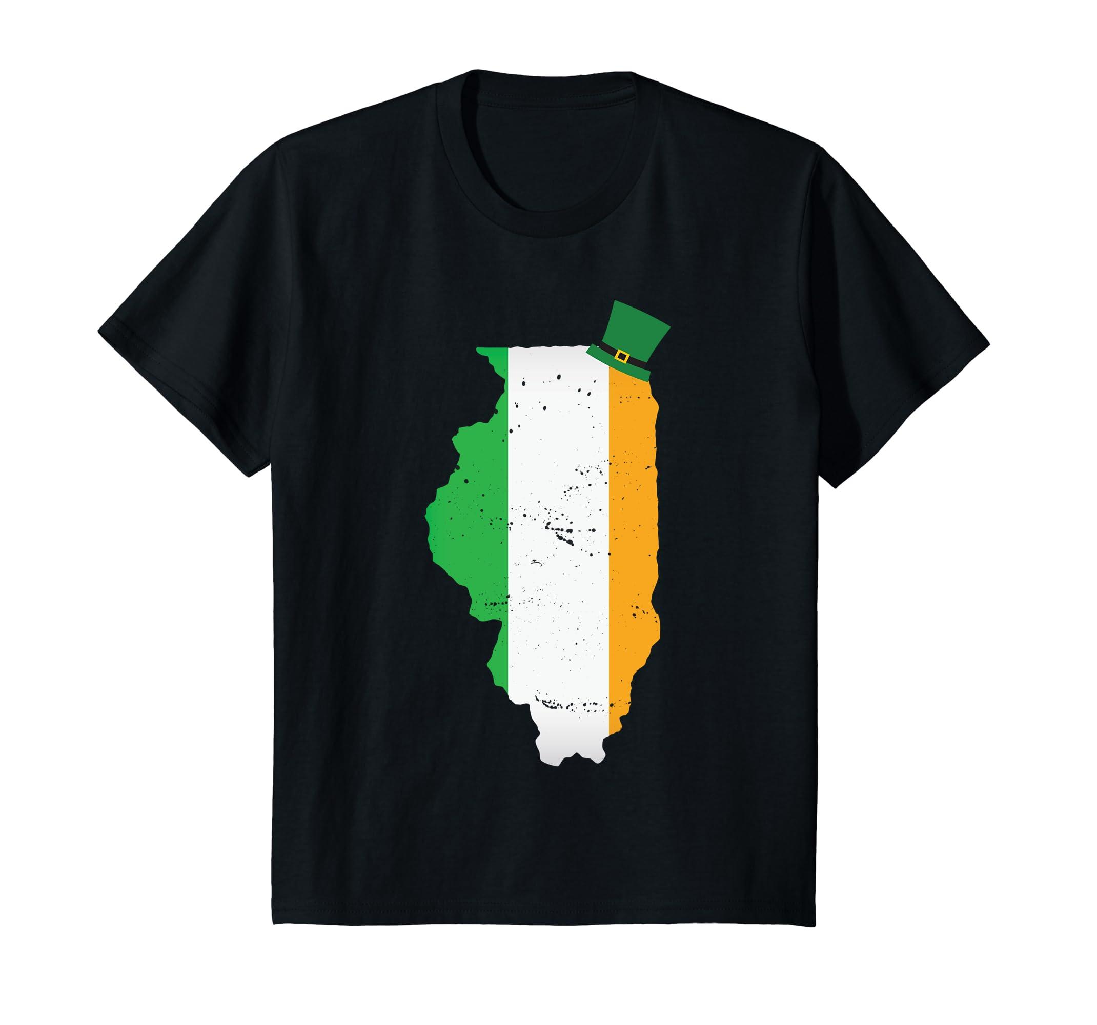 Illinois Irish Distressed Shirt Patricks