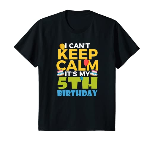 Kids 5th Birthday Shirt Boy I Cant Keep Calm Its My 5