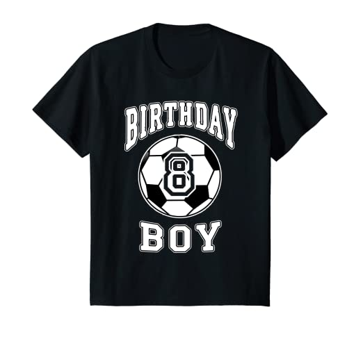 Amazon Kids Soccer Bday 8th Birthday Boy Shirt For 8 Years Old