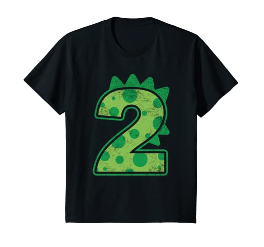Amazon Kids Dinosaur Birthday Two 2nd T Shirt Number