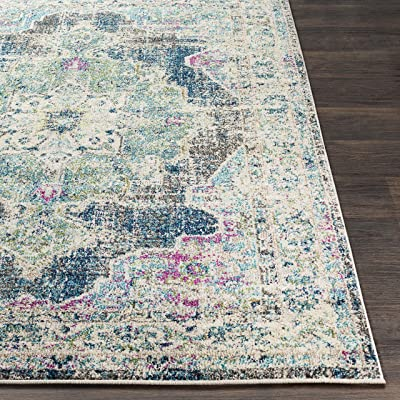 """Artistic Weavers Updated Traditional Area Rug, 5'3"""" x 7'3"""", Teal"""