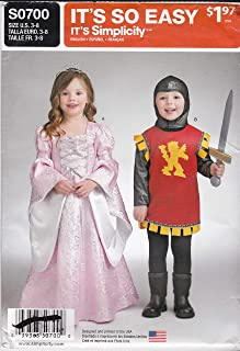 Knight and Princess Costume Sewing Patterns