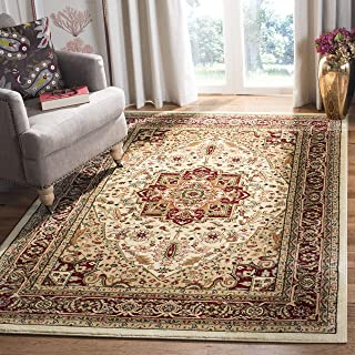 Safavieh Lyndhurst Collection LNH330A Traditional Oriental Medallion Ivory and Red Area Rug (8' x 11')