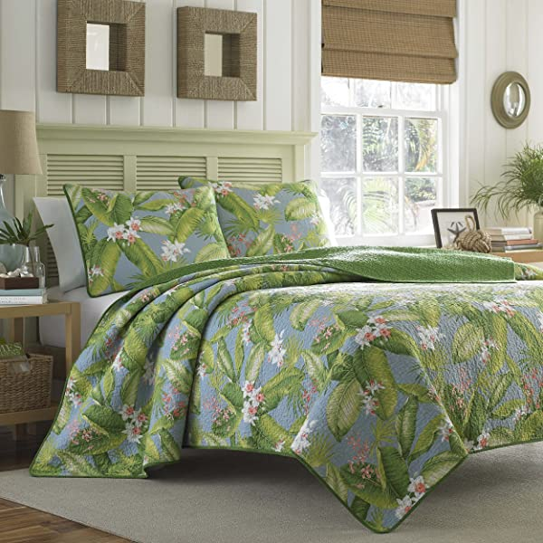 Tommy Bahama Aregada Dock Quilt Set King Sky