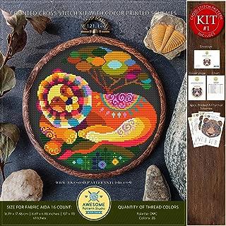 Leo #K121 Cross Stitch Kit | Cross Stitch Patterns | Zodiac Signs Embroidery Kits | Needlepoint | Counted Cross Stitch | Embroidery Stitches