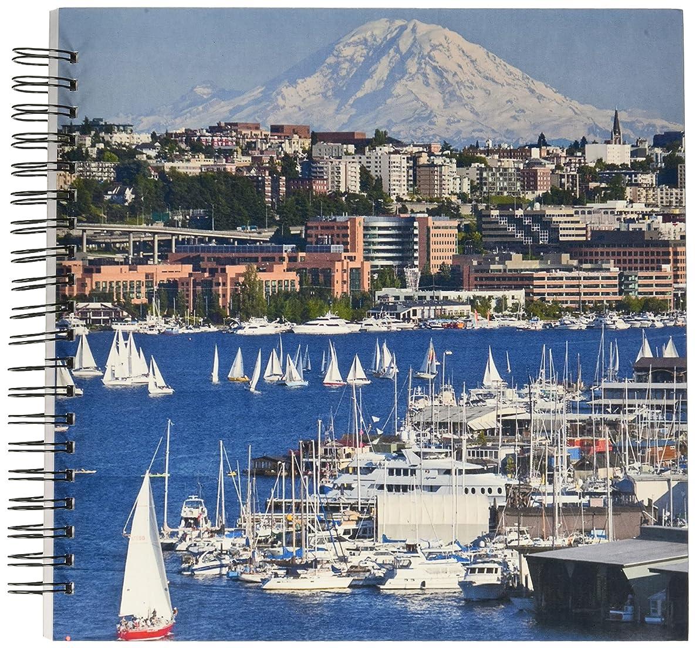 3dRose db_95234_2 Washington, Seattle. Lake Union and Mt. Rainier-Us48 Ccr0292-Charles Crust-Memory Book, 12 by 12-Inch