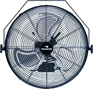 Tornado - 18 Inch High Velocity Industrial Wall Fan - 3 Speed - for Industrial, Commercial, Residential, and Shop Use - ETL Safety Listed - 5 Years Warranty