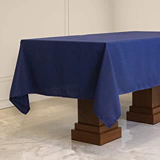Kadut Rectangle Tablecloth (70 x 120 Inch) Navy Blue Rectangular Table Cloth for 6 or 8 Foot Table | Heavy Duty | Stain Pr...