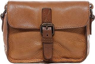 BACCINI Schultertasche echt Leder DARIA klein Handtasche Schultergurt Umhängetasche Ledertasche Damen braun