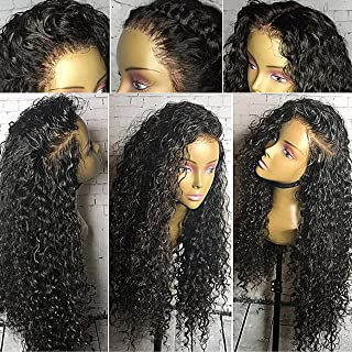 Full Lace Wigs for Black Women 150% Density Curly Full Lace Front Wig Virgin Human Hair Wigs with Baby Hair (24 inch, full lace wig)