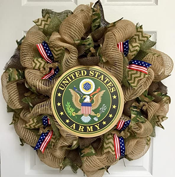 Army Strong Deco Mesh Wreath Handmade Deco Mesh