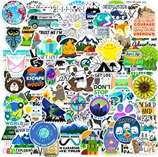 100 Outdoor Stickers for Water Bottles Mountain EL NIDO Laptop Stickers Vinyl Waterproof Adventure and Hiking Car Aestheti...