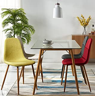modern glass dining table chairs