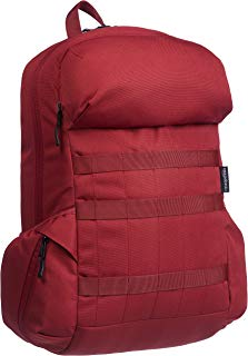 AmazonBasics Canvas Backpack for Laptops up to 15-Inches - Deep Red
