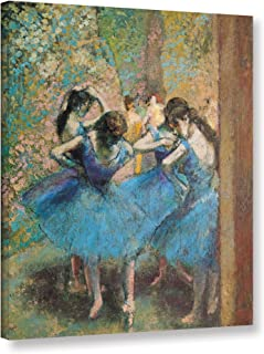 ArtWall Edgar Degas's Dancers in Blue Gallery-Wrapped Canvas, 24 x 32