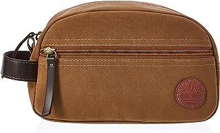 Timberland Men's Toiletry Bag Canvas Travel Kit Organizer, Khaki, One Size