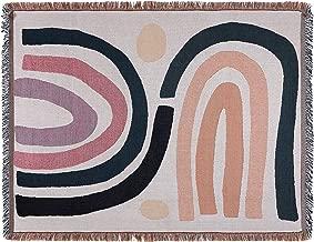 Sonemone Sofa Throw Blanket Year Round Morden Style Couch Sofa Bed Beach Travle 50x70 White Geometric Pattern