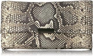 Loeffler Randall womens TABCLTCH-EBS Tab Clutch (Python Embossed Leather)