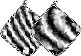 ZOLLNER 2 agarraderas de Cocina, 100% algodón, 24x24 cm, a Rayas