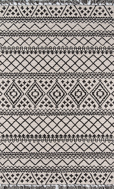 Momeni Tahoe Wool Area Rug 5' Mail order 8' Grey X Max 40% OFF