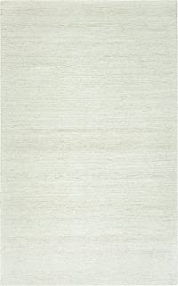 Rizzy Home Country Collection Wool Area Rug, 5' x 8', Off White/Gray/Rust/Blue Solid