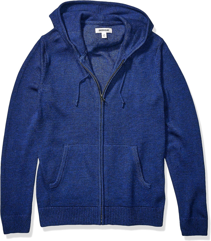 Goodthreads Men's Supersoft Marled Full Zip Hoodie Sweater