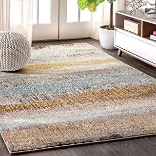 JONATHAN Y CTP105 Contemporary POP Modern Abstract Vintage Cream/Yellow 8 ft. x 10 ft. Area Rug