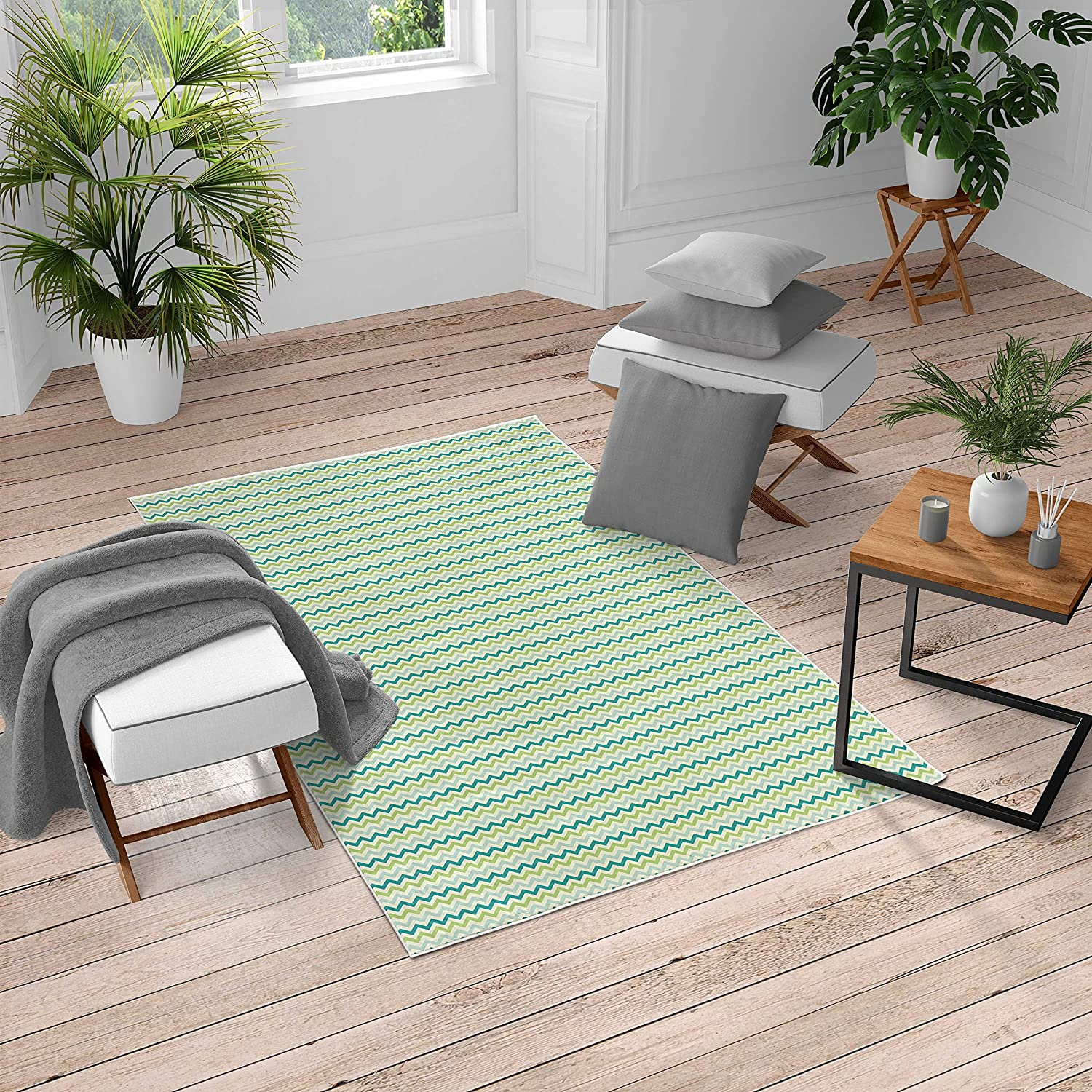 Lunarable Chevron Turkish Recommendation Area Rug Cool Past Pattern List price in