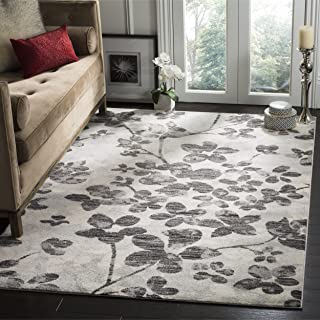 Best black and white floral rug Reviews