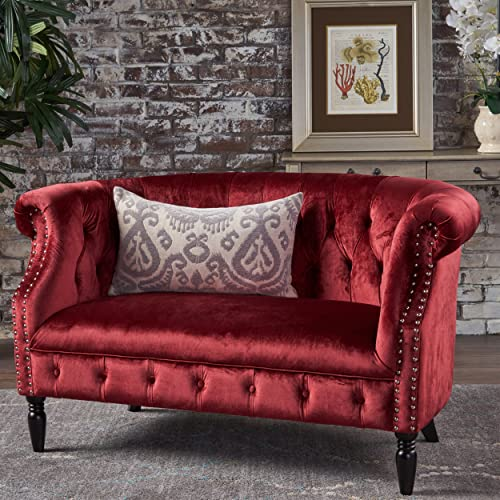 Strange Red Velvet Sofa Amazon Com Pdpeps Interior Chair Design Pdpepsorg