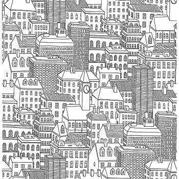 """NuWallpaper NU2091 Metropolis Peel and Stick Wallpaper, 10.25"""""""