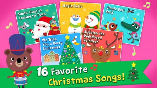 『Pinkfong Christmas Fun: 赤ちゃん・幼児・子供向けのクリスマス歌、ゲーム、カメラ、知育』の3枚目の画像