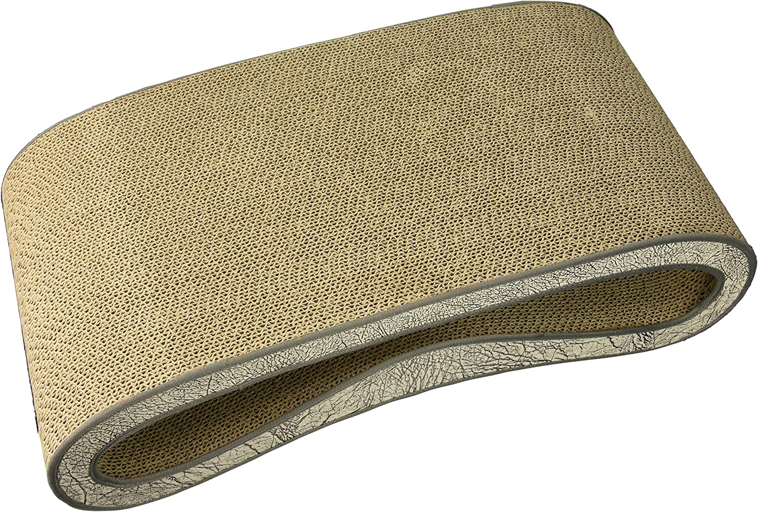 P.L.A.Y. (Pet Lifestyle And You), Durable High Quality Leeloo Cat Scratcher,  Cat Lounge Bed, Ash Grey  Chocolate