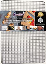 """Kitchenatics Commercial Grade Stainless Steel Cooling and Roasting Rack Heavy Duty Thick-Wire Grid Fits Jelly Roll Pan Oven-Safe Rust-Resistant for Cooking, Roasting, Grilling, Drying (10"""" x 15"""")"""
