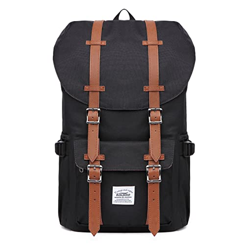 KAUKKO Laptop Outdoor Backpack, Travel Hiking& Camping Rucksack Pack, Casual Large College School Daypack