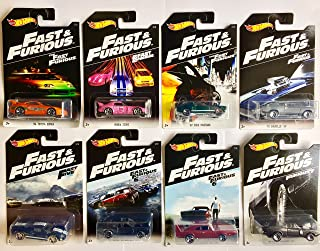Hot Wheels Fast and Furious Set of 8 2016 Exclusive 1:64