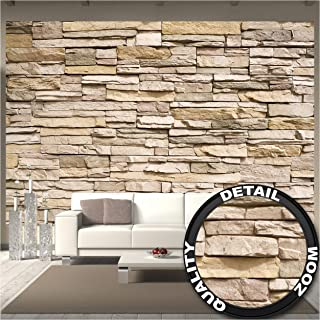 GREAT ART Mural De Pared – Pared De Piedra Noble –