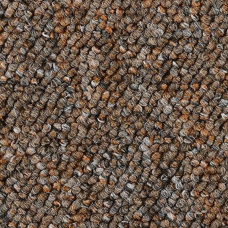 2x4m BODENMEISTER BM72051 Teppichboden Auslegware Meterware Schlinge rost braun 400 cm und 500 cm breit Variante verschiedene L/ängen