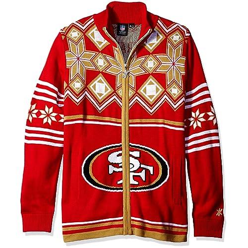 97af575212a NFL Split Logo Ugly Sweater Jacket
