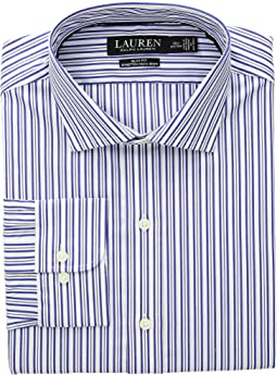 Slim Fit No-Iron Striped Cotton Dress Shirt