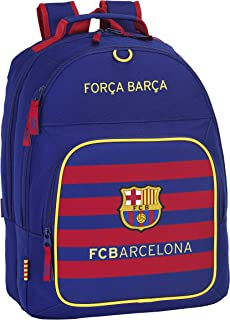 FC Barcelona Mochila Doble Adaptable, 32 x 42 x 16 cm, Color Azul Marino