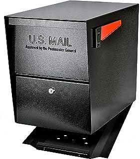 Mail Boss 7206 Package Master Curbside Locking Security Mailbox | Black,Medium