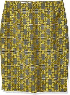 Kasper Women's Plus Size Jacquard Plaid Skirt