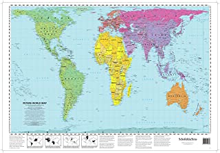 Peters World Map  (Laminated Poster)