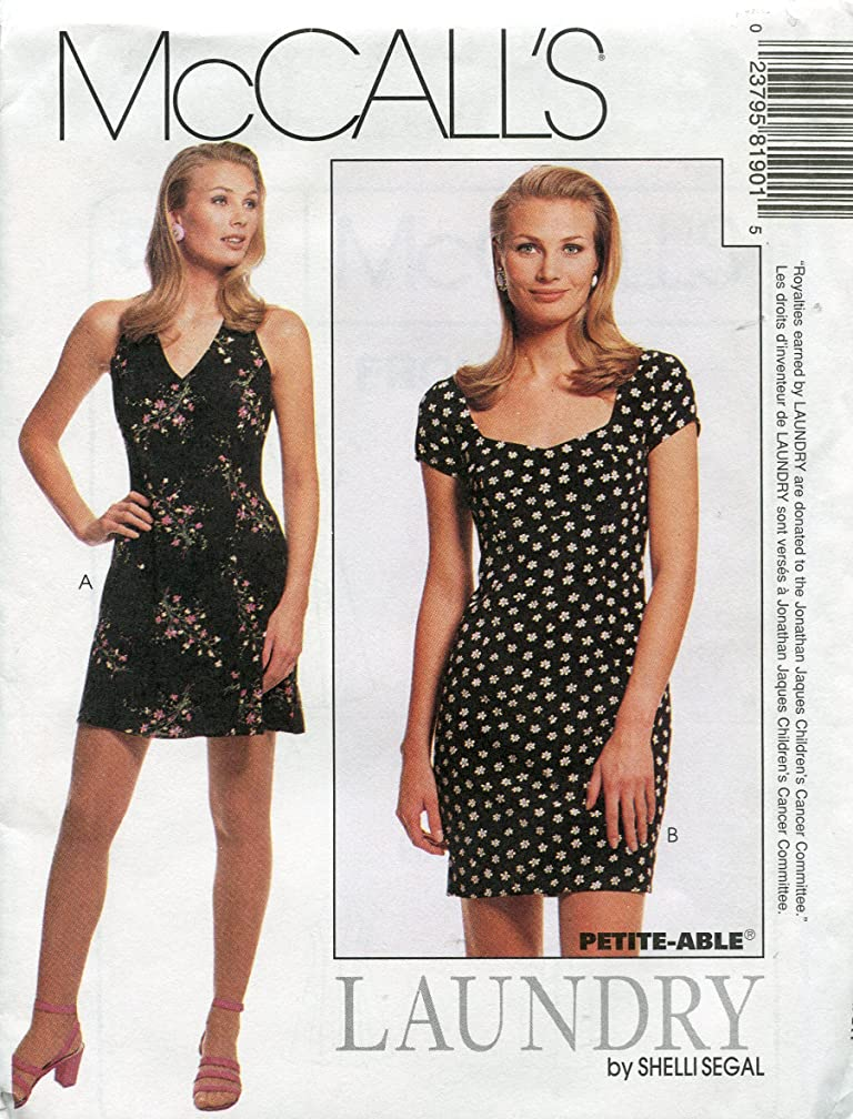McCall's Pattern 8190 ~ Laundry by Shelli Segal Misses' Lined Halter & Fitted Dress ~ Sizes 4-6-8
