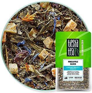 Tiesta Tea - Pineapple Blues, Loose Leaf Blueberry Pineapple Green Tea, Medium Caffeine, Hot & Iced Tea, 2 oz Pouch - 25 C...
