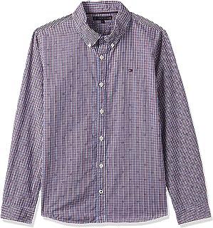 Tommy Hilfiger Boy's Dobby Check Long Sleeve Shirt