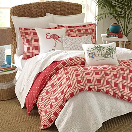 Nine Palms Sunrise Comforter Set Full/Queen Red