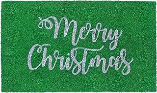 """Liora Manne Natura Merry Christmas Green Outdoor Welcome Coir Door Mat, 1'6"""" x 2'6"""""""