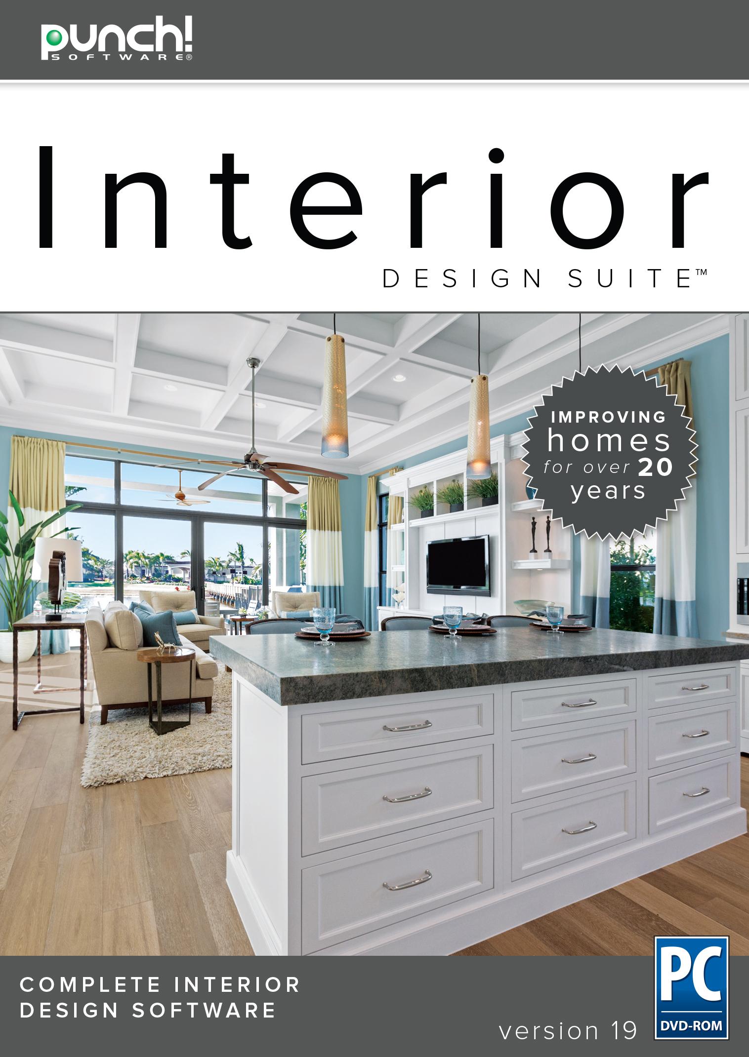 Punch! Interior Design Suite v19 - The best-selling interior home design software for Windows PC [Download]